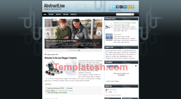 abstract line blogger template