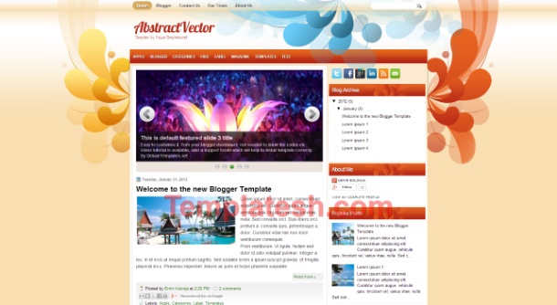 abstract vector blogger template