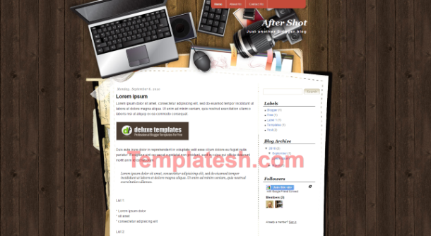after shot blogger template