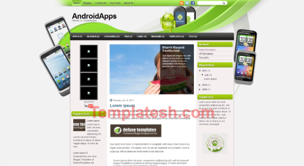 android apps blogger template