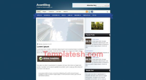avant blog blogger template