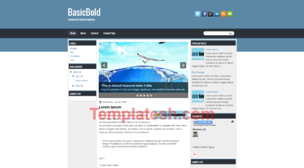 basic bold blogger template