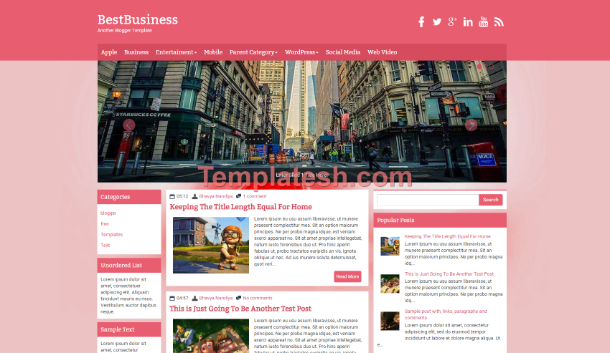 Best business blogger template templatesh best business blogger template cheaphphosting Images