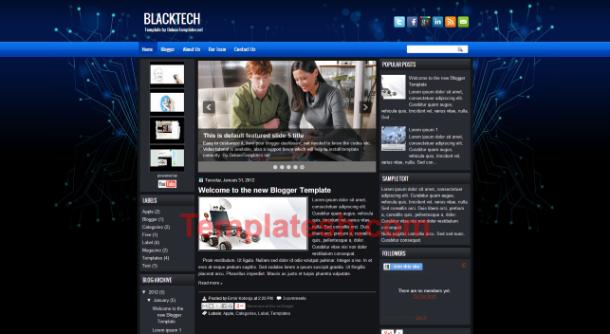black tech blogger template