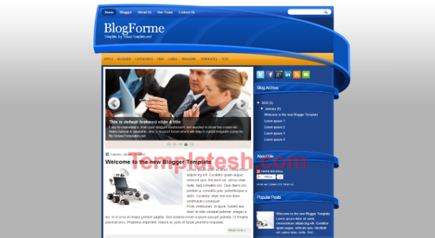 blog forme blogger template