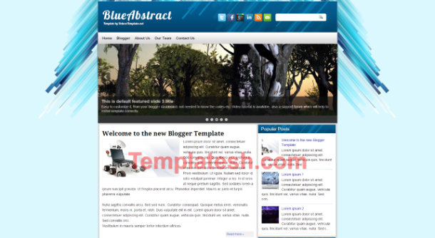 blue abstract blogger template