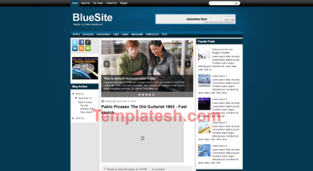 blue site blogger template