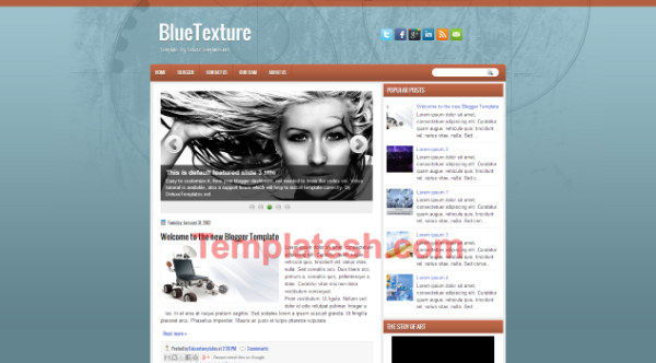 blue texture blogger template