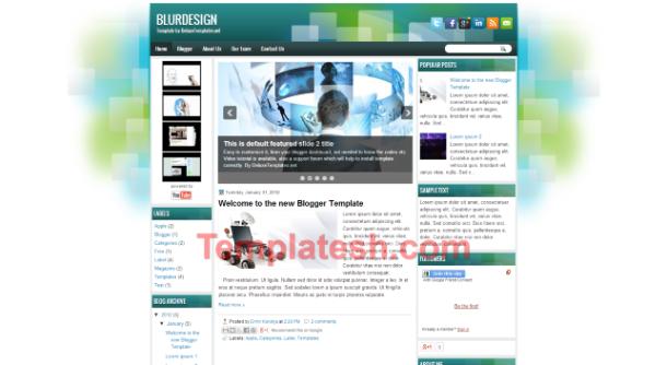 blur design blogger template