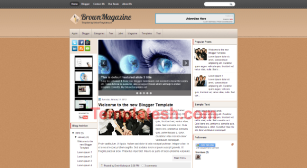brown magazine blogger template