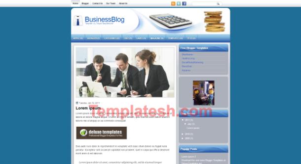 business blog blogger template
