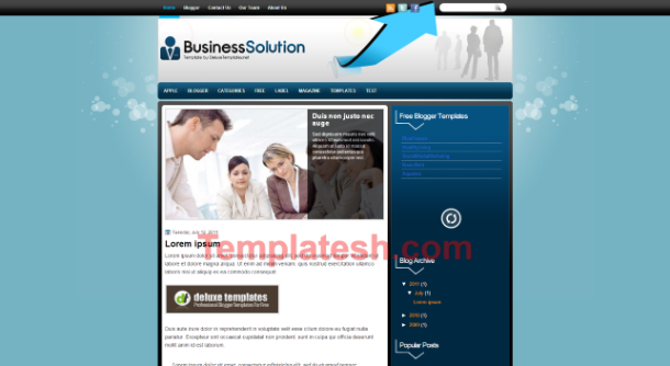 business solution blogger template