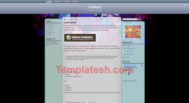 calibra blogger template