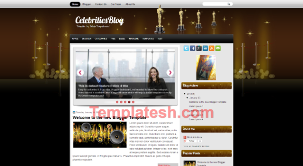 celebrities blog blogger template