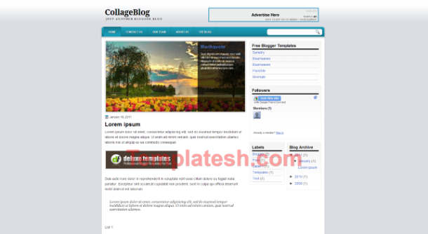 collage blogger template
