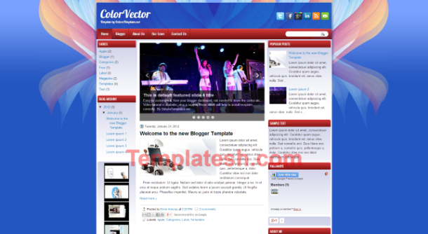 color vector blogger template