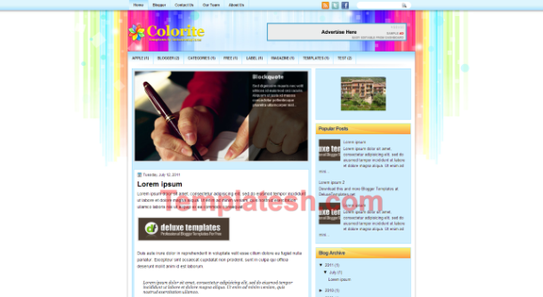 colorite blogger template