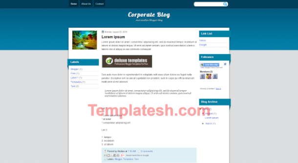 corporate blog blogger template