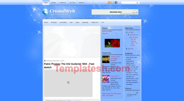 cristal web blogger template
