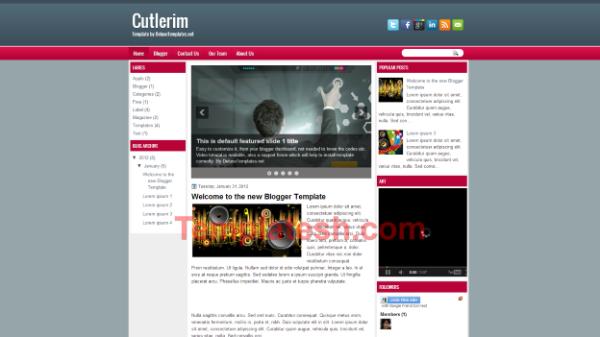cutlerim blogger template