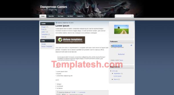dangerous  blogger template