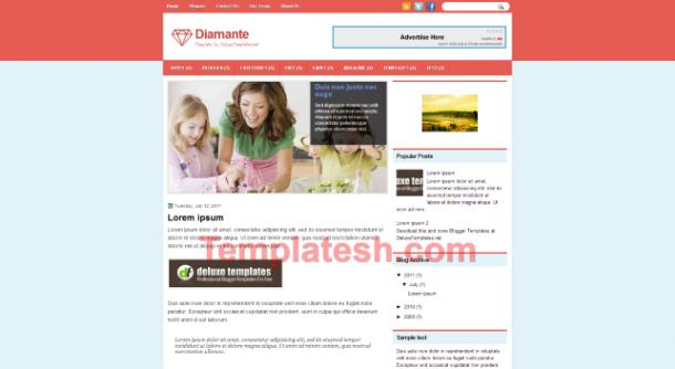 diamante blogger template