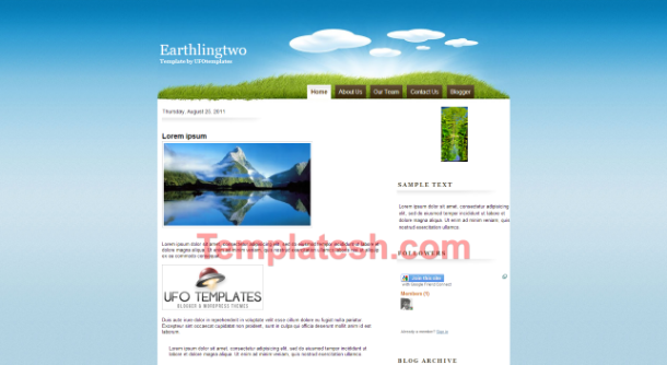 earthling two blogger template