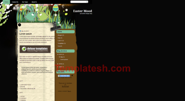 easter mood blogger template