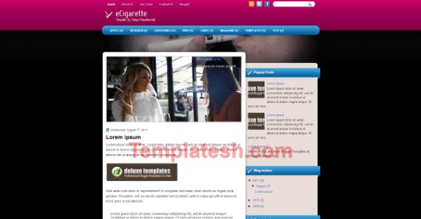 ecigeratte blogger template