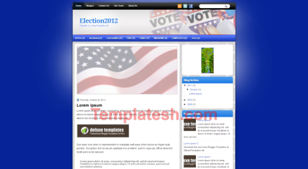 election 2012 blogger template