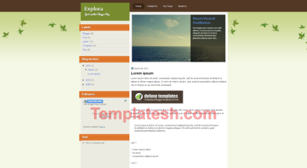 explora blogger template