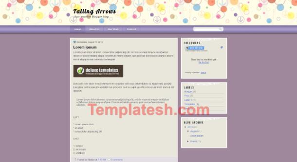 falling arrows blogger template
