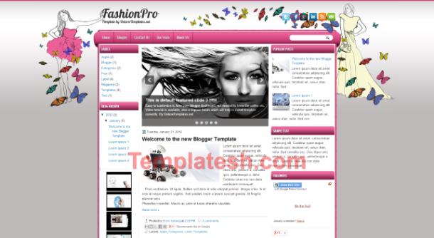 fashion pro blogger template