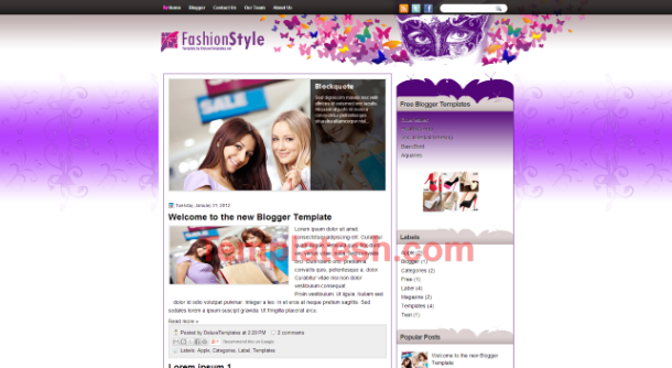 fashion style blogger template