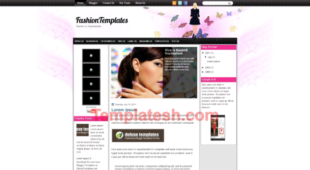 fashion templates blogger template