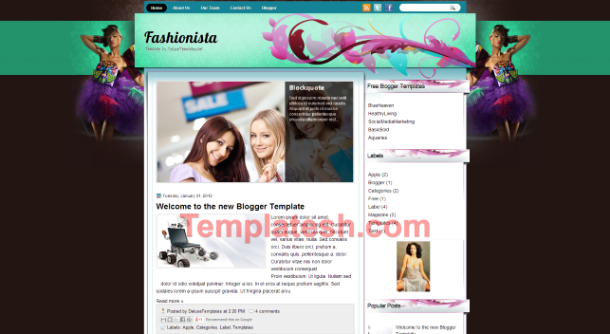fashionista blogger template