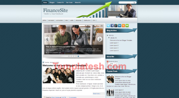 finance site blogger template