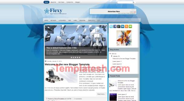 flexy blogger template