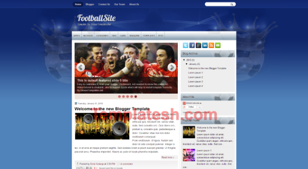 football site blogger template