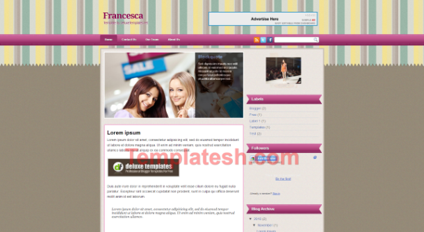 francesca blogger template