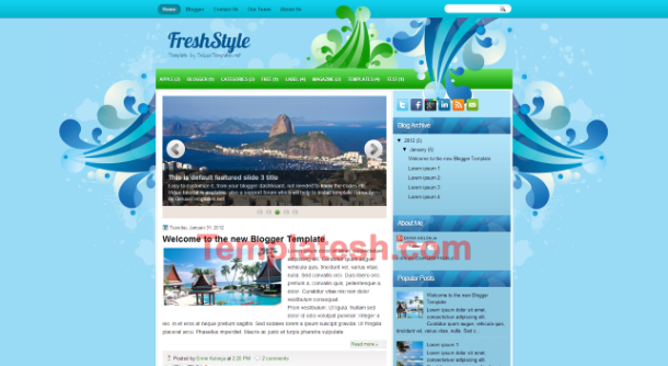 fresh style blogger template