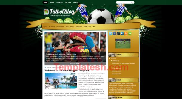 futbol blog blogger template