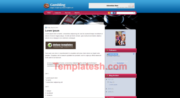 gambling blogger template