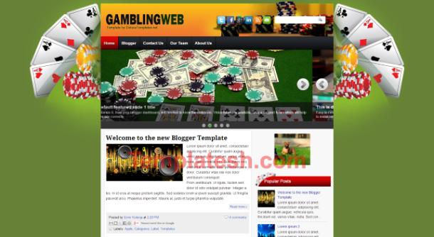 gambling web blogger template