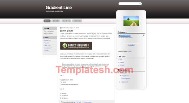 Gradient Line