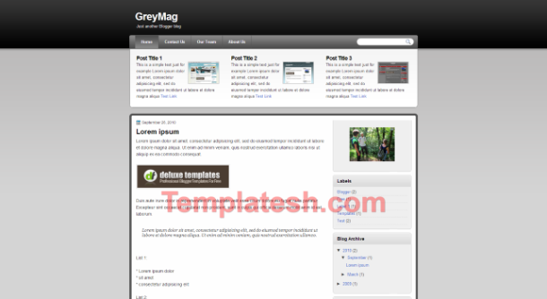 grey mag blogger template