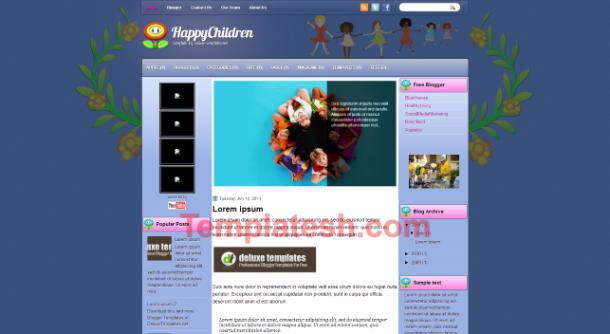 happy children blogger template