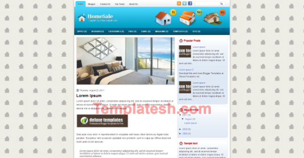 home sale blogger template