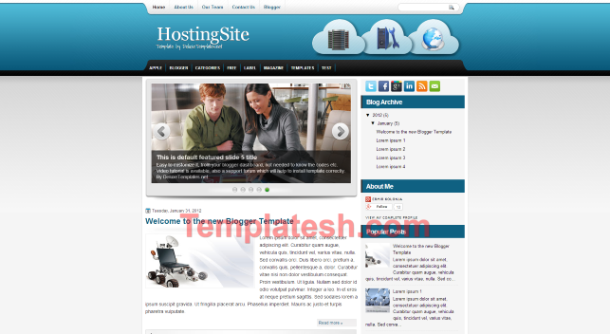 hosting site blogger template