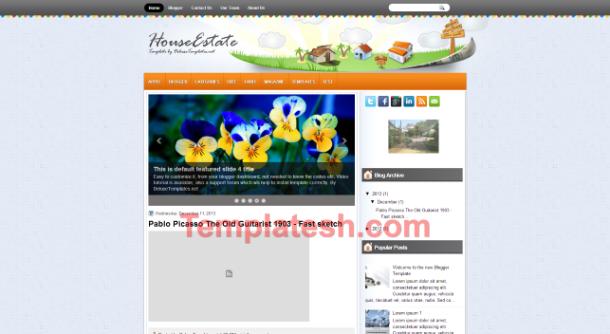 house estate blogger template